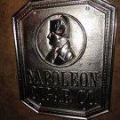 Napoleon Cigar Co. Bronze Sign Nickel Plated