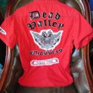 Dead Valley Choppers  mens casual red embroidered shirt  Medium size