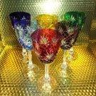Faberge Odessa  Hock Crystal Wine Glass set of 6
