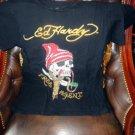 Ed Hardy Mens Designer Black T-Shirt pre-owned size Medium