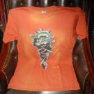 Ed Hardy Mens Designer Burnt Orange  T-Shirt pre-owned size Large