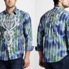 Robert Graham Limited Edition Bluegrass Print Long Sleeve Sport Shirt size Med