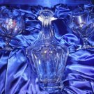 Faberge Crystal  Decanter with 2  Glasses in box