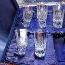 Faberge  Vodka Shot Crystal Glasses  Set of 5