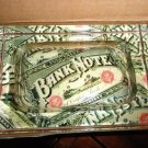 """Lost Art crystal acid  ashtray new in the box """" Bank Note"""""""