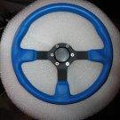 "New Gussi Boat Steering Wheel M521 BLUE Urethane Black Spoke 14"""