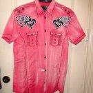 Men's Roar Signature Short Sleeve Button Up Shirt Size Medium
