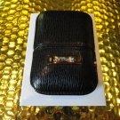 s.t.dupont black leather  case  model no. 180324