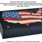 "Elie Bleu Stars & Stripes ""  Cigar Humidor 110 Count NIB Made in France"