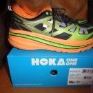 Hoka One One Mens Stinson 3 ATR Shoes 1008326 Bright Green / Persimmon 12.5