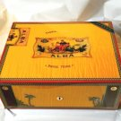Elie Bleu Alba Yellow Gold Sycamore Wood Humidor 75 ct
