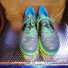 HOKA ONE ONE VANQUISH GREY/ CYAN RUNNING SHOES, MENS US SIZE 13