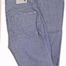 7 For All Mankind Slimmy Slim Straight Leg Indigo Diamond Print Jeans