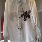 Tribes Men's Long Sleeve Button Front Shirt size M