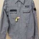 Rebel Spirit Grey Button Down Long Sleeve Medium