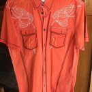 Roar  Orange Short Sleeve Shirt sized Large