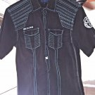 Roar brand Short Sleeved Button Down Shirt size M Slim Fit