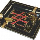 Fuente OpusX Black Porcelain Ltd Edition Ashtray with Gold Plated Rests