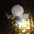 VINTAGE ELOI PERNET FRANCE 1841 SILVER COIN POCKET CIGAR CUTTER KNIFE