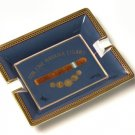 Elie Blue Medals Porcelain Blue Ashtray