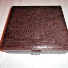Pheasant  Brown  Leather Humidor made in Spain