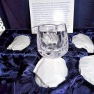 Faberge shot clear crystal glasses