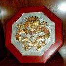 Royal Selangor Oriental Collection Pewter & Gold Dragon Plaque Asian art