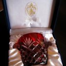 Ruby Red Faberge Ice Bucket in the original presentation box