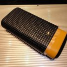 Cohiba Black & Gold Leather Carrying
