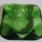 Green Crystal Rounded Square Shaped Ashtray