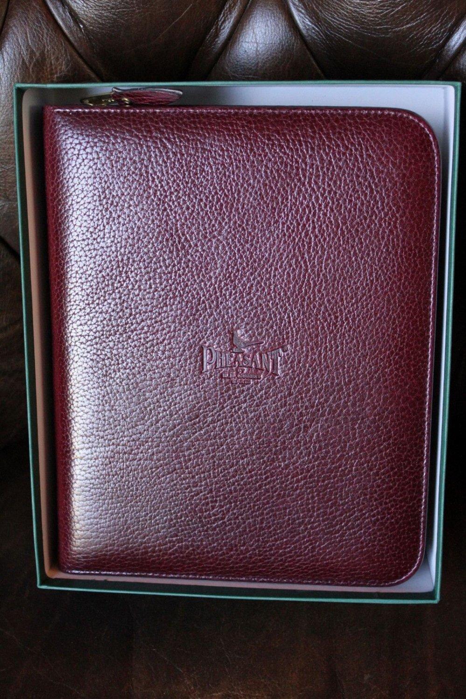 pheasant Bordeaux Leather carrying case