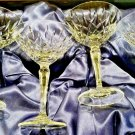 Faberge Crystal D' Arcy  Martini Glasses set of 4 in the original presentation case