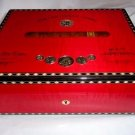 Elie Bleu Medals  Red Sycamore Humidor 75 Count