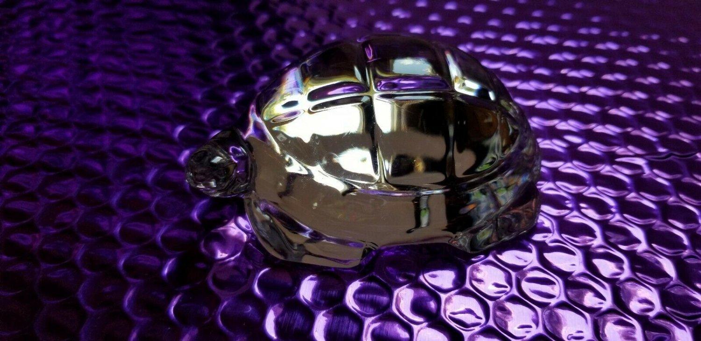 Baccarat crystal turtle