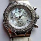 TechnoMarine Techno Diamond Bezel 1CT Chronograph Ladies MOP Diamond Dial Watch