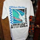Attitude is Everything Offshore Racing Hanes Beefy-T shirt Medium size