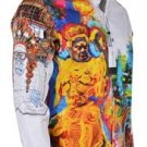 New Robert Graham THE YAKI WARRIOR Embroidered Studded Limited Edition Shirt