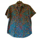 Robert Graham Short Sleeve 90's Style Printed Sport Shirt Classic Fit - Medium