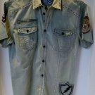 Roar Khaki Short Sleeve Shirt Large