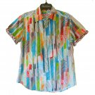 Robert Graham Colorful Short Sleeve Printed Sport Shirt Classic Fit