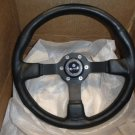 Marine Steering Wheel Black Urethane Black Spoke & Black adaptor