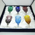 Faberge Odessa crystal colored water glasses