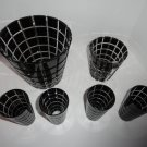Faberge Metropolitan Black Crystal Barware Set with Buckets and glasses