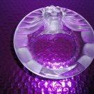 Lalique Crystal Lions Head Ashtray