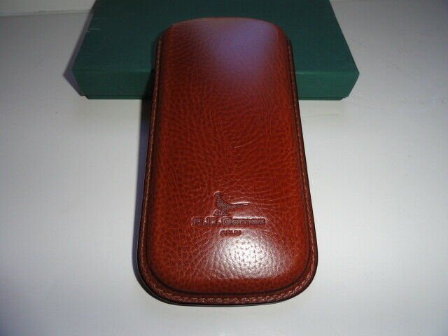 Pheasant Leather Eye Glass Case Xtra Wide