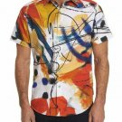 Robert Graham Broad Ave Short Sleeve Printed Sport Shirt Classic Fit Large