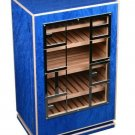 Elie Bleu Classic Blue  Madrona Burl with White Edges Cabinet