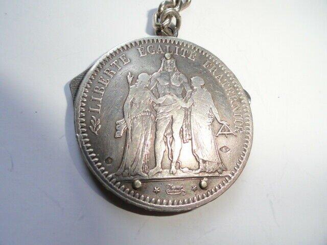VINTAGE ELOI PERNET FRANCE 1841 SILVER COIN POCKET KNIFE