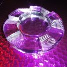 Lalique French Clear and Frosted Crystal Art Deco Ashtray
