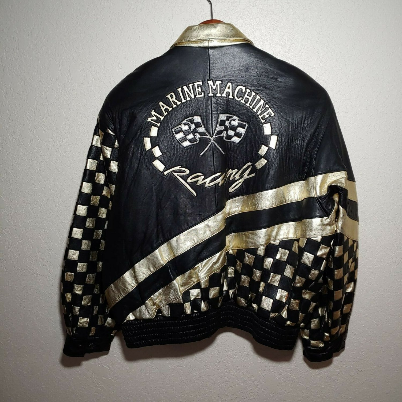 Marine Machine Leather Racing Jacket